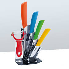 Online Shop Sunnecko 4PCS Ceramic Knife Set Kitchen Japanese Ceramic Kitchen Knives