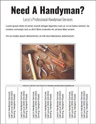 Handyman Flyer Template Mesmerizing CO S Best Picture Handyman Flyer Template The Best Resume Templates