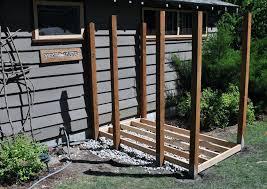 diy outdoor shower enclosure plans plumbing stall