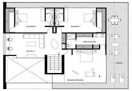 Architecture  Clever Design House Floor Plan Massive Concrete    Clever Design House Floor Plan Massive Concrete Glass Residence
