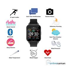 <b>MT28 Smart Watch</b> Heart Rate Body Temperature Blood Oxygen ...