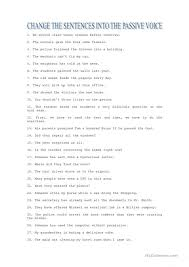 Active And Passive Voice Worksheets Free Worksheets Library ...