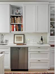 Shaker Style Kitchen Kitchen Enchanting White Shaker Style Kitchen Cabinet With Glass