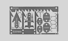 This signature card was created years ago in a survival collaboration between grim survival and fowler. Readyman Wilderness Survival Card Cool Material