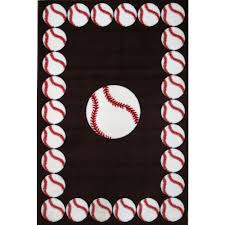 la rug fun time baseball time multi colored 2 ft x 2 ft area