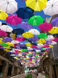 Colorful Umbrellas Installation In Portugal