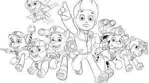Paw Patrol Coloring Pages Printable Paw Patrol Coloring Pages Cool