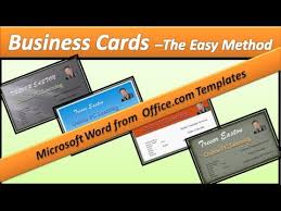 Business Card Make Business Cards Microsoft Word 2010