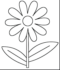 Spring Flower Coloring Pages Spring Flower Coloring Pages Flowers