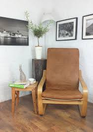 honey vintage distressed faux leather poang chair cover hipica interiors