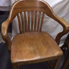 antique vintage lawyers banker library wood desk arm chair gunlockesikes style antique wood office chair