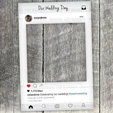 instagram new look frame cut out with instagram prop printable diy for wedding birthday events photo booth props custom digital file 2522839