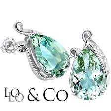 sparkling lolo co 11 51 carat tw green amethyst genuine diamond platinum over 0 925 sterling silver earrings