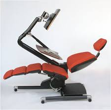 computer chair station luxury altwork station lets you sit stand or lie down at your