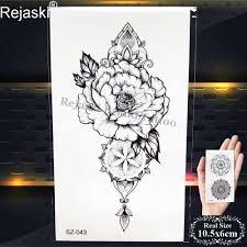 Rejaski красота для временного макияжа татуировки стикеры женский боди арт рукав Henna