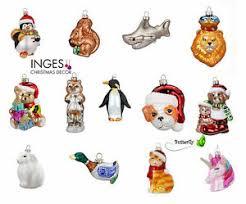 Details Zu Weihnachtskugeln Glas Figuren Christbaumkugeln Christbaumschmuck Baumkugeln Tier