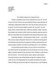 persuasion essay rough draft is college worth it julia bradee  7 pages persuasion essay julia bradee comp i