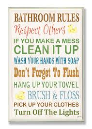 bathroom rules for kids. Brilliant Rules Amazoncom Stupell Home Dcor Bathroom Rules Typography Rubber Ducky  Wall Plaque 10 X 05 15 Proudly Made In USA U0026 Kitchen To For Kids H
