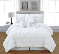 simple elegant bedroom design with lavish white bedding sets queen white luxury quilted microfiber and light wood floor texture 10 designs in white