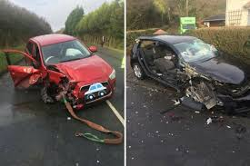 The people involved in this horrific car crash escaped with minor ...