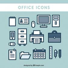 Cute Office Icons Vector Free Download