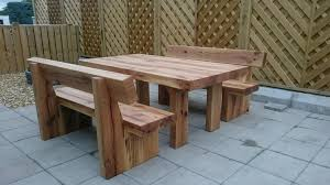 Free Plans For Making A Rustic Farmhouse Table Bench  A Lesson Oak Table Bench