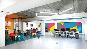 office space colors. Extraordinary View In Gallery Colorful Modern Office Space Design Inspirations Colors: Full Colors S