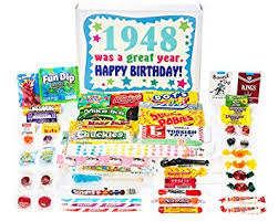 woodstock candy 1948 71st birthday gift box nostalgic retro candy mix from childhood for 71