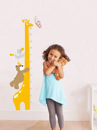 Giraffe Growth Chart Wall Decal