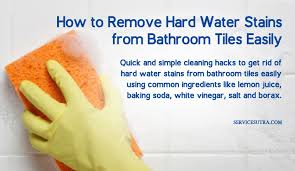 easy ways to remove hard water stains from bathroom tiles