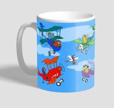 mugs catch the pigeon retro tv show mug