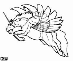 Un Unicorno Alato Da Colorare E Stampare