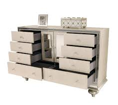 Metallic Bedroom Furniture Hollywood Swank Metallic Graphite Platform Bed By Aico Aico