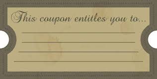 Blank Birthday Coupons To Print Printable Coupons Perfect For