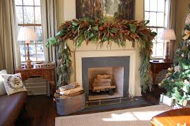 Perfect Christmas Fireplace Garland On Decor With Plan ...