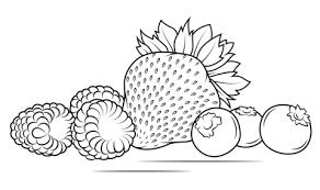 Aardbeien Frambozen En Bosbessen Kleurplaat Gratis Kleurplaten