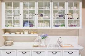 wood glass front cabinets