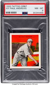 1933 R305 Tattoo Orbit Ivy Andrews PSA NM-MT 8 - None Higher. ... | Lot  #80617 | Heritage Auctions