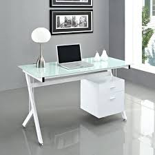 glass and chrome computer desk desks for home office furniture inspiring l shaped clear top with