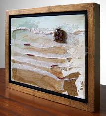 example of canvas art in a floater frame