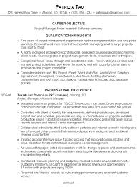 Resume Example Software Project Manager Resume Sample Resume