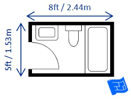 Recommendation: The size for a separate toilet compartment should be at  least 36 by 66 with a swing-out or pocket door.