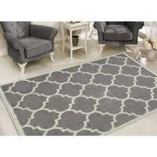 contemporary moroccan trellis gray 5 ft x 7 ft area rug