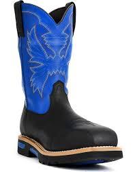 zoomed image cinch men s neon composite toe western work boots black