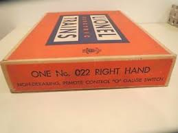 lionel 022 switches lionel 022 postwar o gauge right hand switch brand new never used