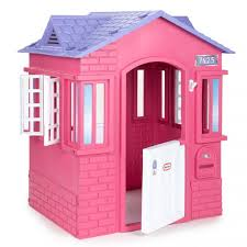 cape cottage playhouse pink