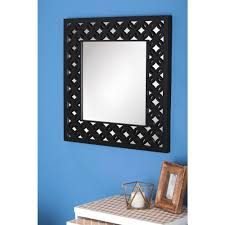 wood wall mirrors. Gray Lattice Wooden Wall Mirror Wood Mirrors