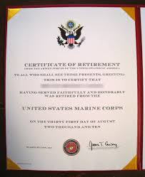 Retirement Certificate At Openbah Journal Of A Marine Officer