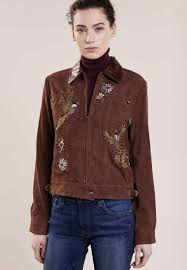 polo ralph lauren leather jacket rich brown for women