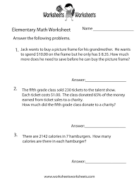 Pictures on First Grade Math Worksheets Word Problems, - Easy ...